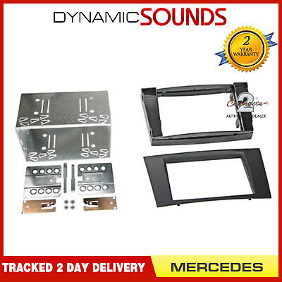 CT24MB11 MERCEDES CLS 2005 to 2010 BLACK DOUBLE DIN FRAME ONLY FASCIA PANEL