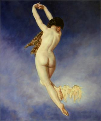 Quality Hand Painted Oil Painting Repro Bouguereau The Lost Pleiad 20x24in