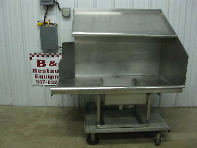 "47"" Stainless Dirty Right Hobart Dish Table w/ Shelf 4'"