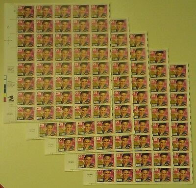 New Mint 200 (5 Sheets x 40) ELVIS PRESLEY 29 ¢ US Postage Stamps. Scott # 2721