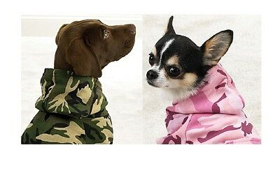 CAMO HOODIES for DOGS - 4 Colors! High Quality Camouflage Dog Sweatshirts NWT !