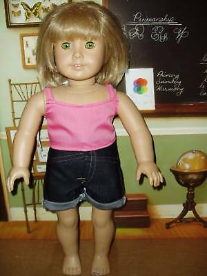 2pc Pink Camisole & Jean Shorts 18 inch Doll Clothes fits American Girl