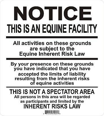 Supplemental Equine Signs Many More Signs Available