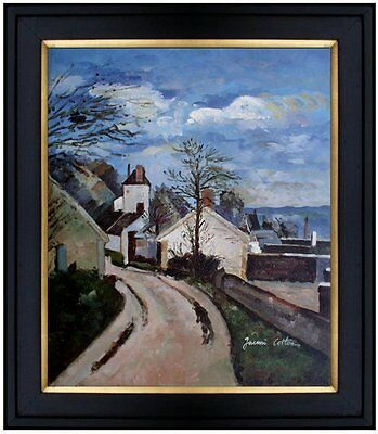 Framed Hand Painted Oil Painting Repro Paul Cezanne House of Dr. Gachet 20x24in