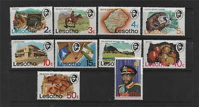 Lesotho 1976 Definitives SG 300/309 MNH