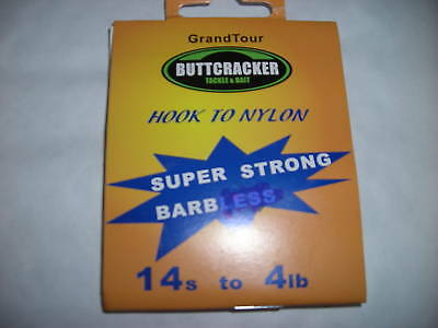 Hooks To Nylon Barbed  ( size 14 ) ( 10 Packs of 10 )