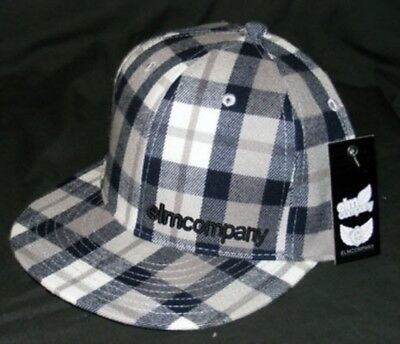 Brand New  Elm Company PANEL Fitted Hat Black LIMITED RELEASE 7 1//4-7 5//8