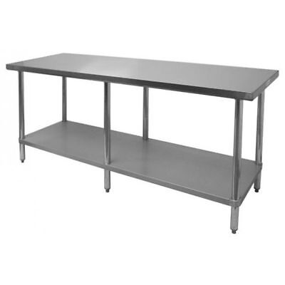 "Stainless Steel Work Table 30""x84"" NSF - Flat Top"