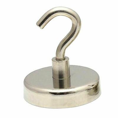 6x Powerful 32mm 34kg Magnetic Hooks | Neodymium Rare Earth Hook Hanger Holder