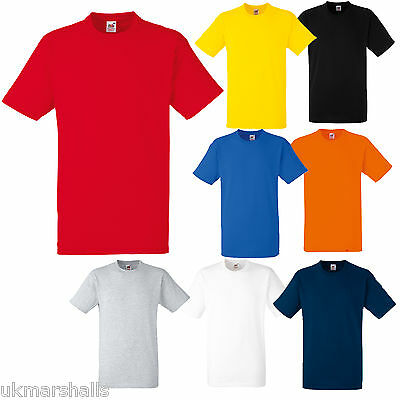 Fruit Of The Loom Heavy T Shirt S M L Xl Xxl 8 Colours