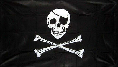 3' x 2' Skull and Crossbones Flag Pirate Party Jolly Roger Banner