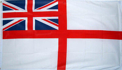 3' x 2' White Ensign Flag British Naval Royal Navy Flags Union Jack Banner