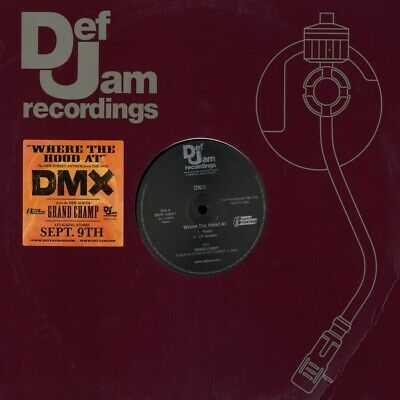 "DMX - ""Where the Hood At?"" Def Jam -Record 12"" Vinyl LP"