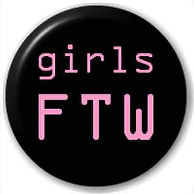 Small 25mm Lapel Pin Button Badge Novelty Girls Ftw