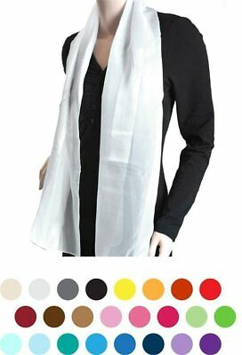 Solid Sheer POLYESTER SATIN SCARF