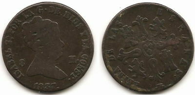 Spain - Queen Isabel Ii -8 Maravedis - 1837 - 03468