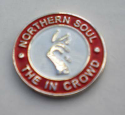 Red Northern Soul The In Crowd Enamel Lapel Pin Badge