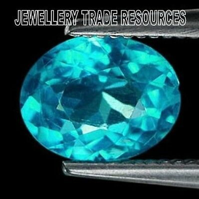 Natural Paraiba Colour Apatite 6x5mm Oval Gem Gemstone