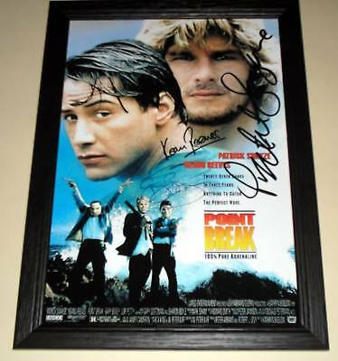 "Point Break Cast X2 Pp Signed & Framed 12""x 8"" Poster"