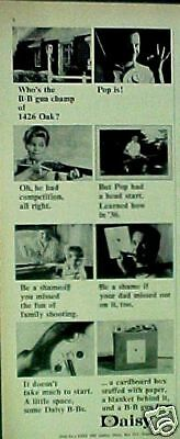 1965 Daisy B B Pump Gun Champ Western Air Rifle Toy Paper AD