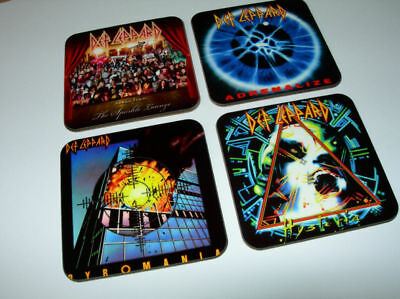 Def Leppard Album Cover COASTER Set