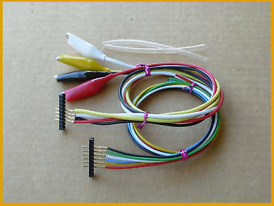 Assorted  test clip jumpers wire w 0.1 in pitch locator