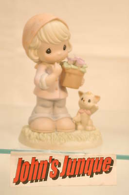 March Violet Modest Precious Moments~Retired Monthly Figurine~Free Us Shipping