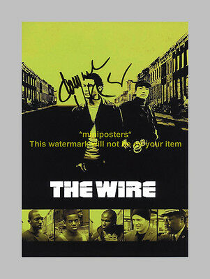 "The Wire Pp Signed 12""x8"" Poster Dominic West"