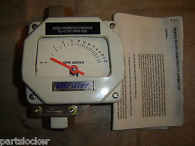"Wallace & Tiernan 55-200 Armored Flow Meter 1"" New"