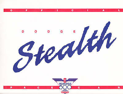 1991 Dodge Stealth press kit new old stock with Indy 500 Pace Car promo model