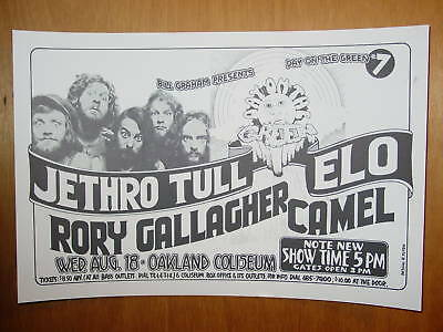 Jethro Tull/Rory Gallagher/ELO-Oakland 1976  POSTER