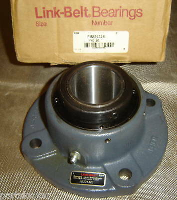 "Link Belt Fb22432E Flange Bearing 2"" Shaft Pillow Block"