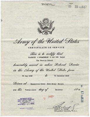 1946 Army Discharge Clarence McLaughlin Providence, RI