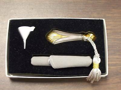 Lunt Gold Regency Shell Sterling Silver Perfume Vial-  New