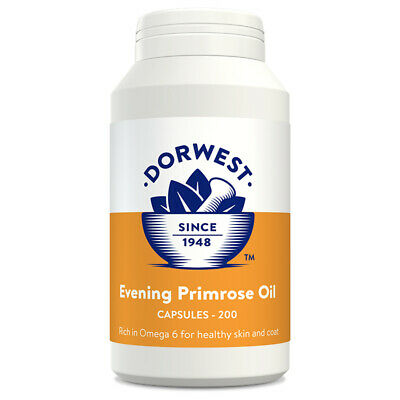 Dorwest Herbs Evening Primrose Oil 200 capsules dog cat supplement