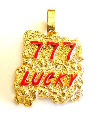 New 777 Lucky Gold Nugget Pendants Charms Free Shipping
