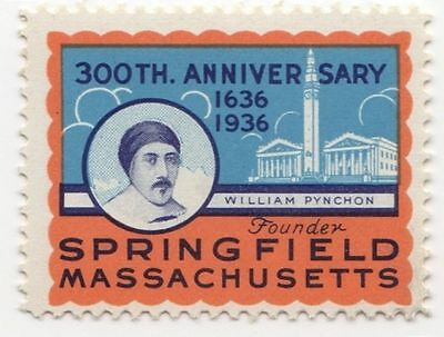 Poster Stamp - 300th Anniversary - Springfield, MA