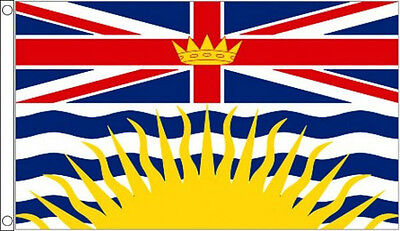 5' x 3' British Columbia Flag Canada Canadian Province Banner
