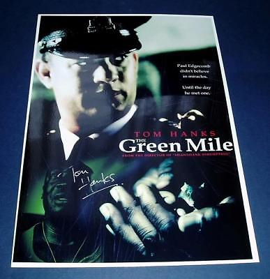 The Green Mile Pp Signed Poster 12X8 Tom Hanks