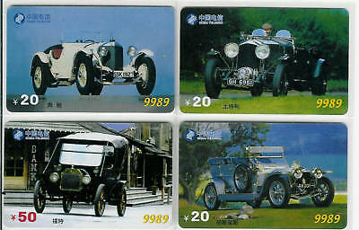 China - Coches Antiguos - Antique Cars - 444-Tarjetas Telefonicas