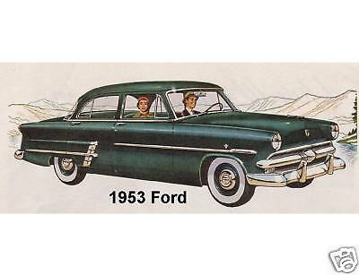 Tool Box Magnet Man Cave Gift Card Insert 1956 Ford Auto Refrigerator