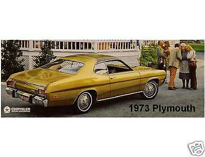 1973 Plymouth Gold Duster  Refrigerator / Tool Box  Magnet