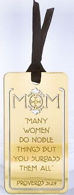7 Brass Plated Sm Metal Bookmarks   Mom