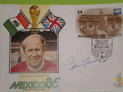 World Cup 1986 First Day Cover  - Signed By Bobby Charlton