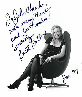 Brett Butler signed lovely 8x10 photo / autograph