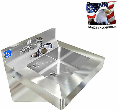 Ada, Wash Up Hand Sink Stainless Steel Vandal Resistant