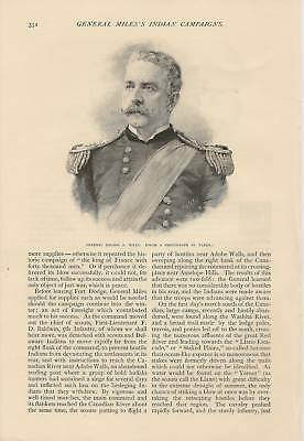 1891 Gen. Nelson Miles Indian Campaigns Article
