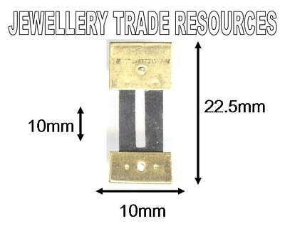 CLOCK SUSPENSION SPRING TOP QUALITY STEEL BRASS 22.5mm long 10mm wide
