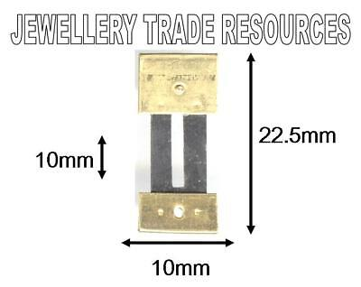 CLOCK SUSPENSION SPRING TOP QUALITY STEEL & BRASS 22.5mm Long  10mm Wide