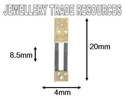 CLOCK SUSPENSION SPRING TOP QUALITY STEEL BRASS 20mm long 4mm wide